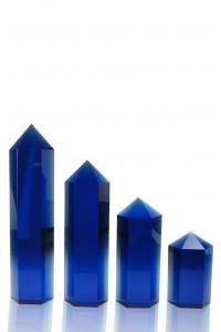 Hexagon Columns Blue