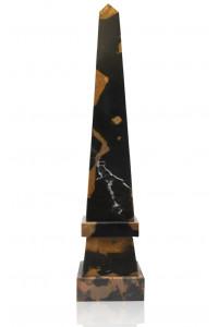 Stepped Obelisk Black & Gold Marble
