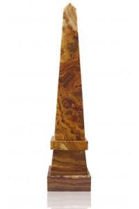 Stepped Obelisk Amber Onyx