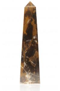 Straight Obelisk Black & Gold Marble