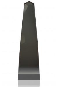Modern Obelisk Smoky Quartz Lucite