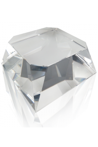 Clear Beveled Square Slant Base