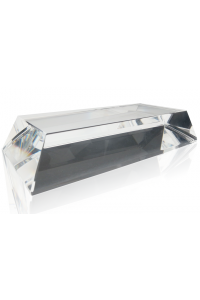 Clear Slant Rectangle Base