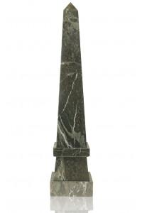 Stepped Obelisk Jade Leaf Green Marble