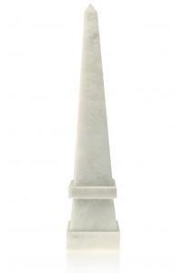 Stepped Obelisk White Marble