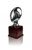 Silver Plated Resin Football