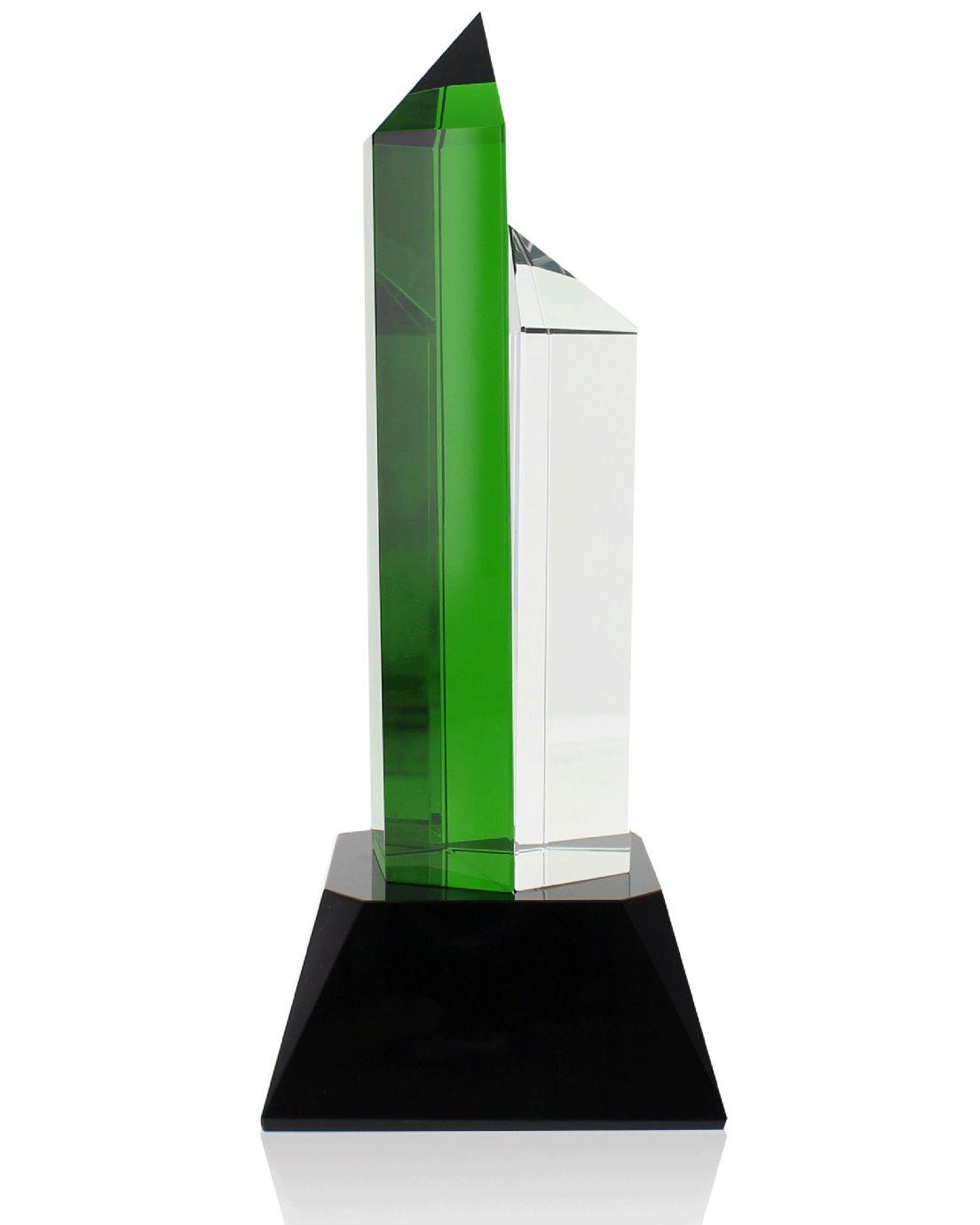 Hexagon Green Clear