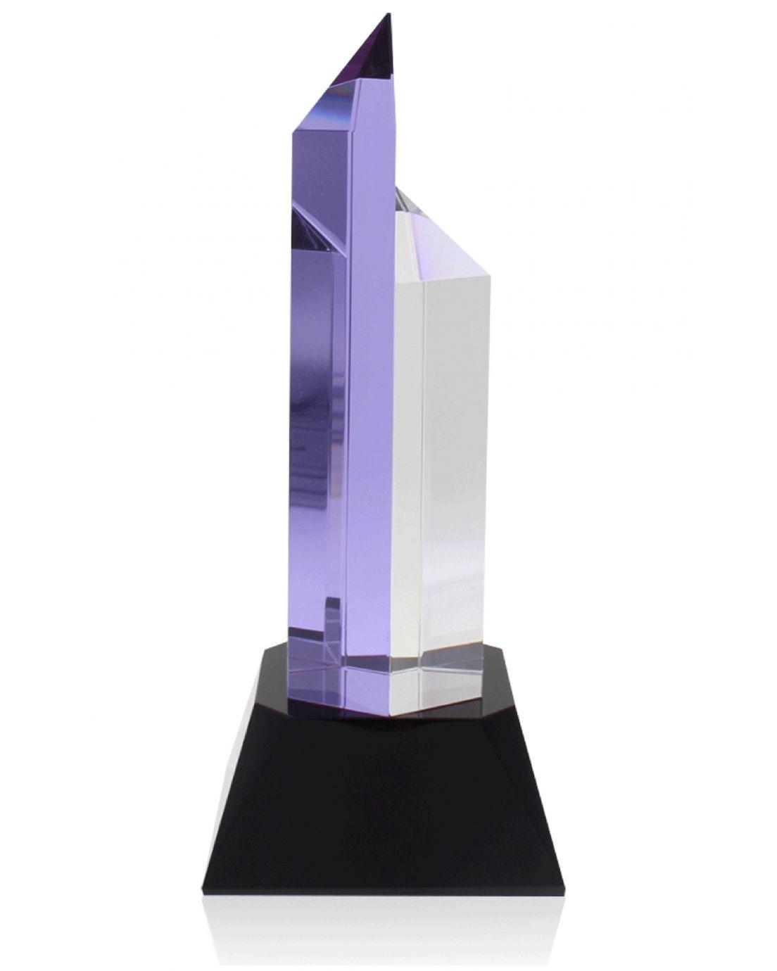 Hexagon Purple Clear