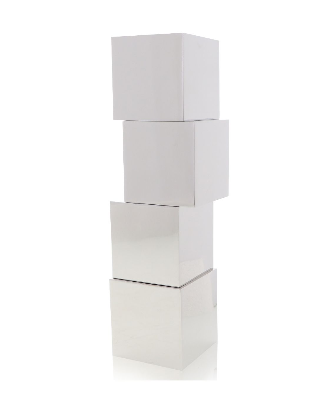 Stacked Cubes Metal