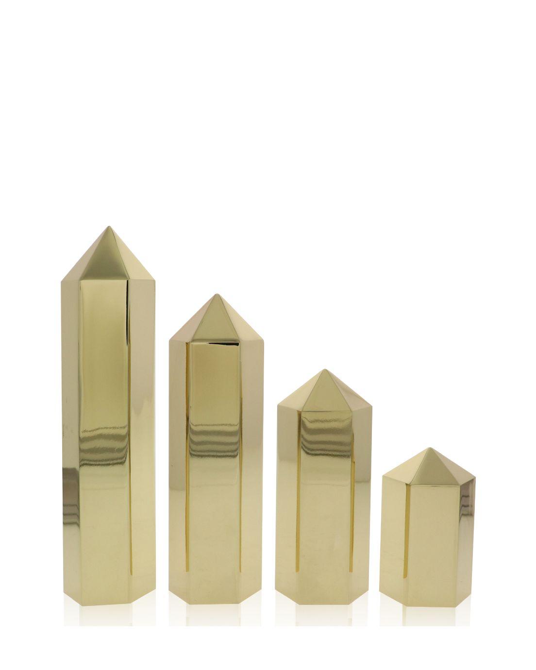 Hexagon Columns Shiny Gold