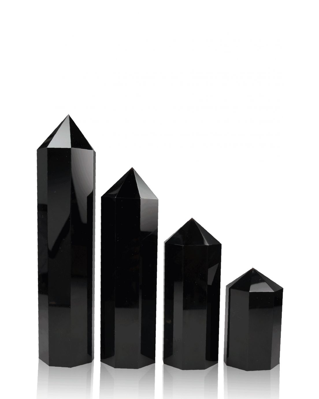 Hexagon Columns Black