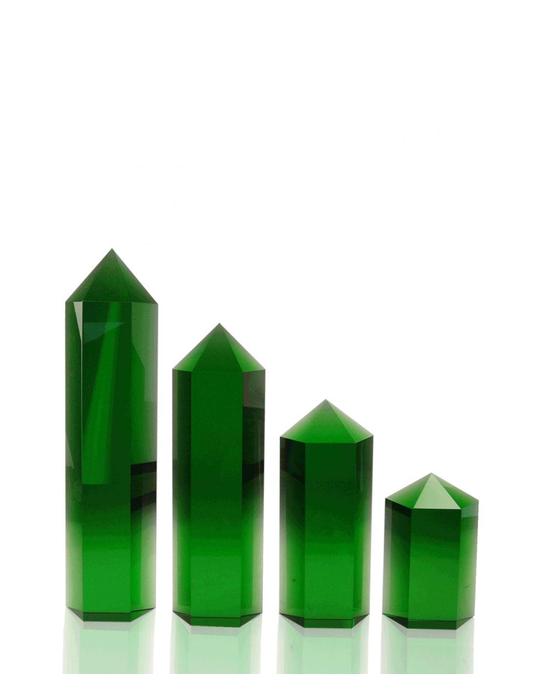 Hexagon Columns Green