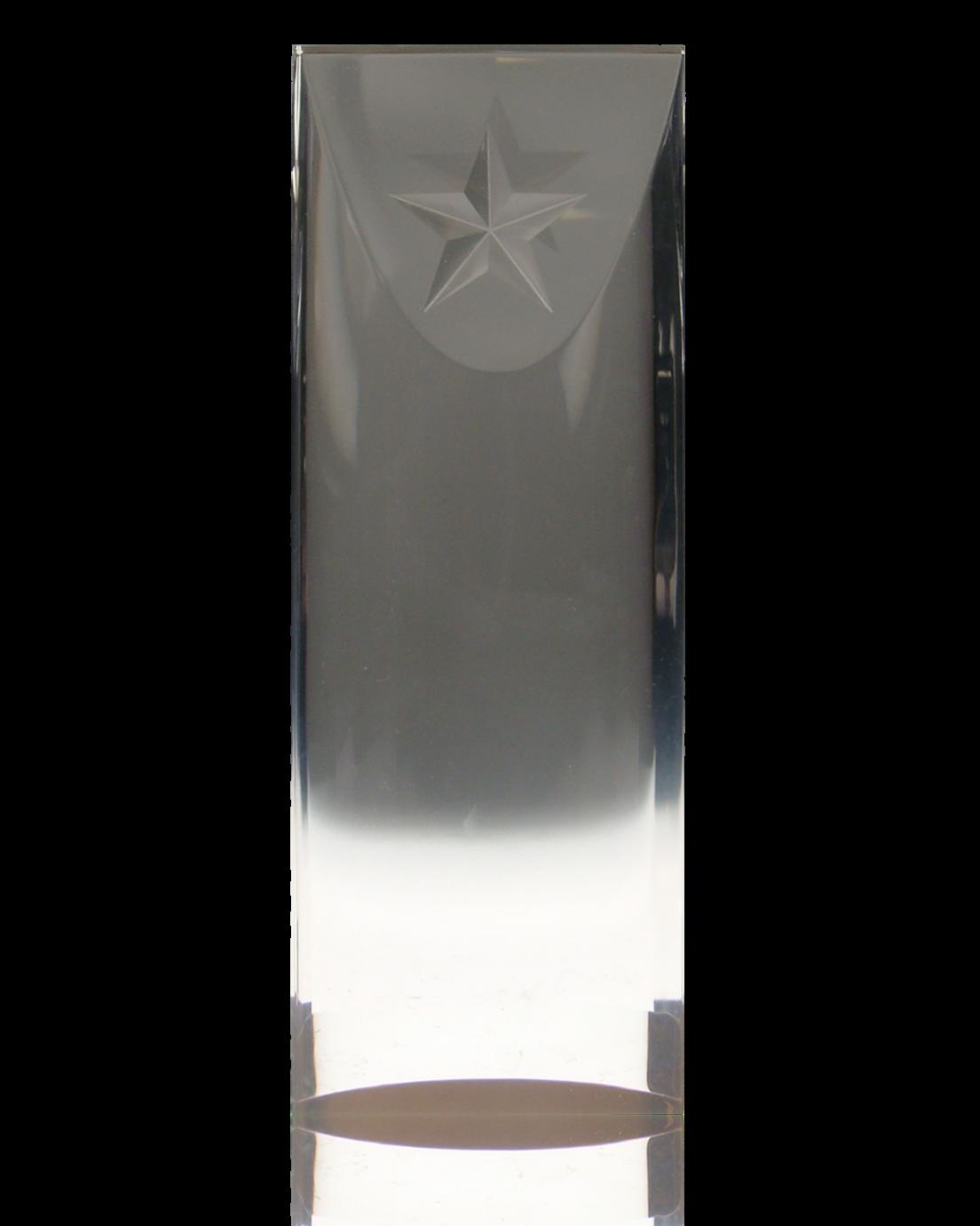 Acrylic Slice with Star