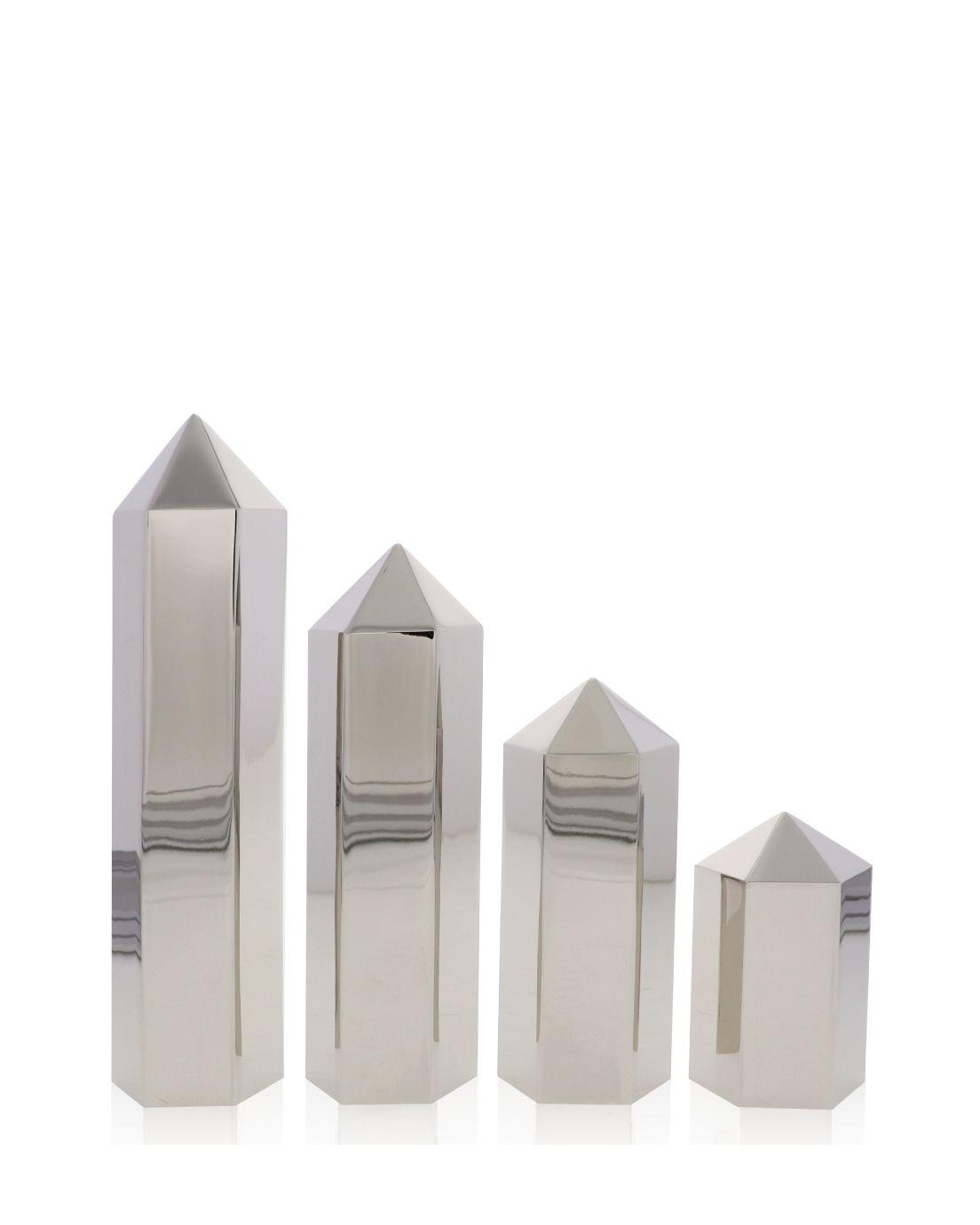 Hexagon Columns Shiny Silver