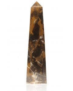 Straight Obelisk Black & Gold Marble