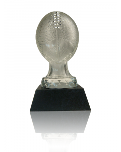 Glass Football on Marble Base