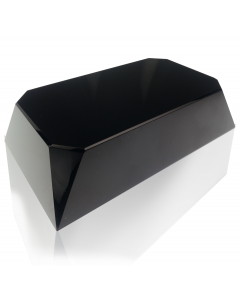 Black Beveled Rectangle Slant Base