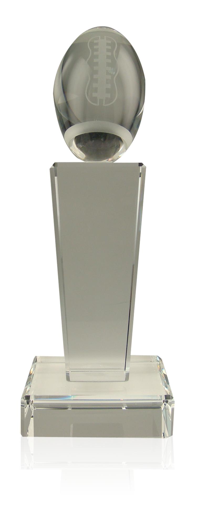 Crystal Football Pillar