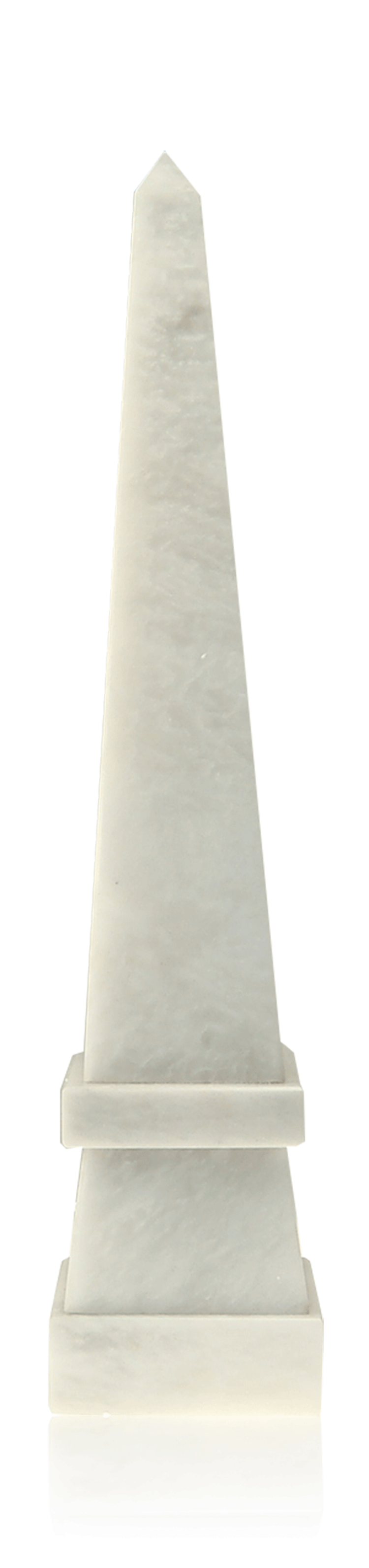 Stepped Obelisk White Marble