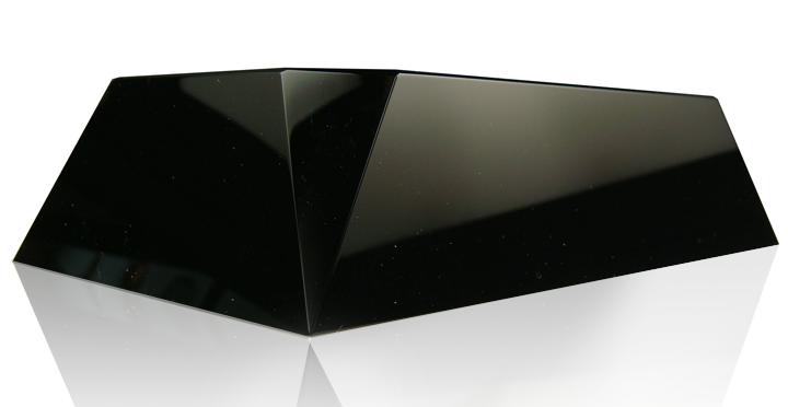 Black Beveled Rectangle Slant Base