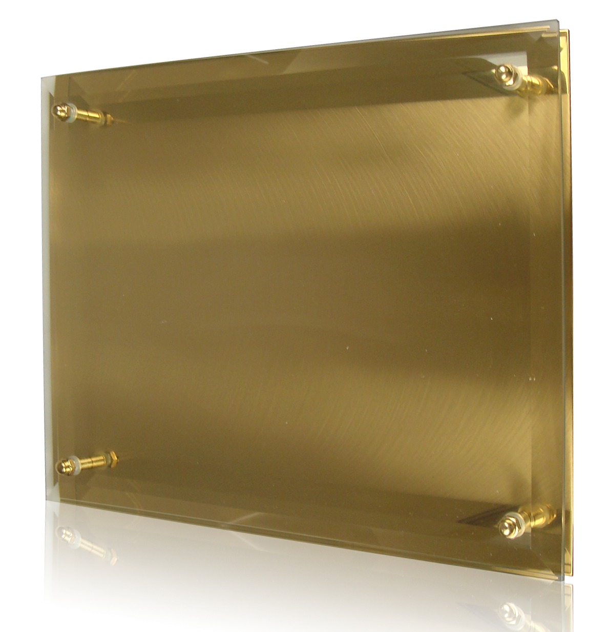 Personalize artful designs golden reflections plaque award society awards - Plaque ondulee polycarbonate transparent ...