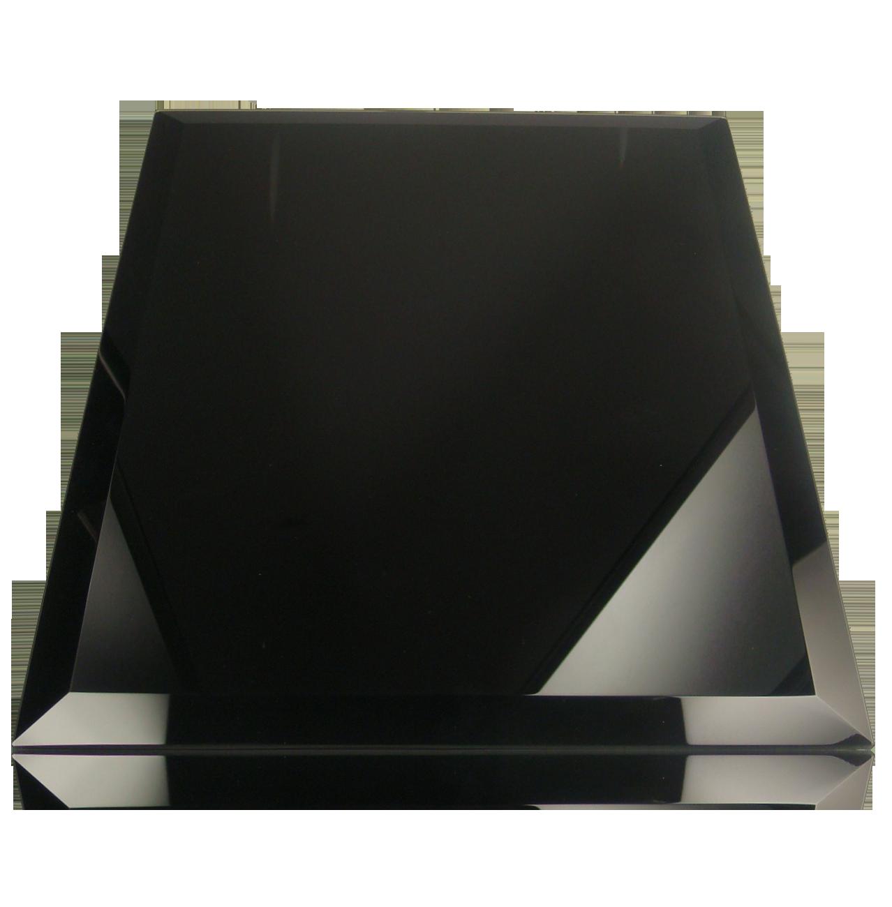 black glass plaque - Black Glass