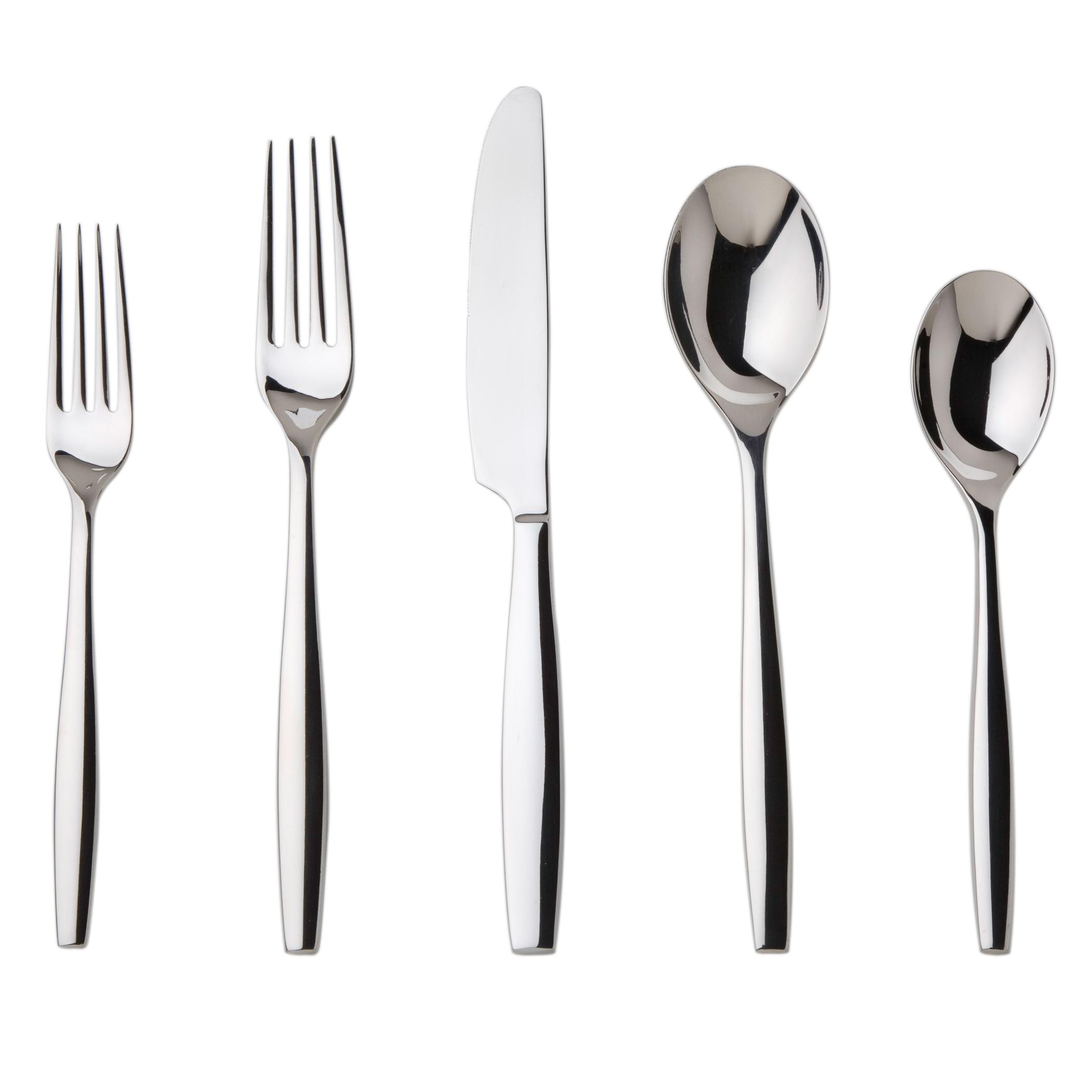 Elegant Dinner Aidan Flatware Modern Look With A Clean Design Includes