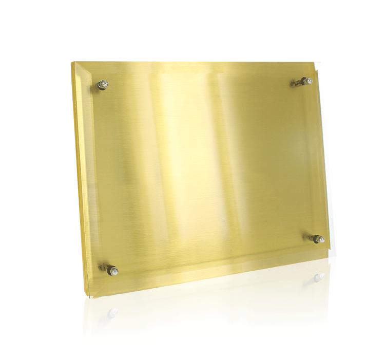 Metal Plaque Gold