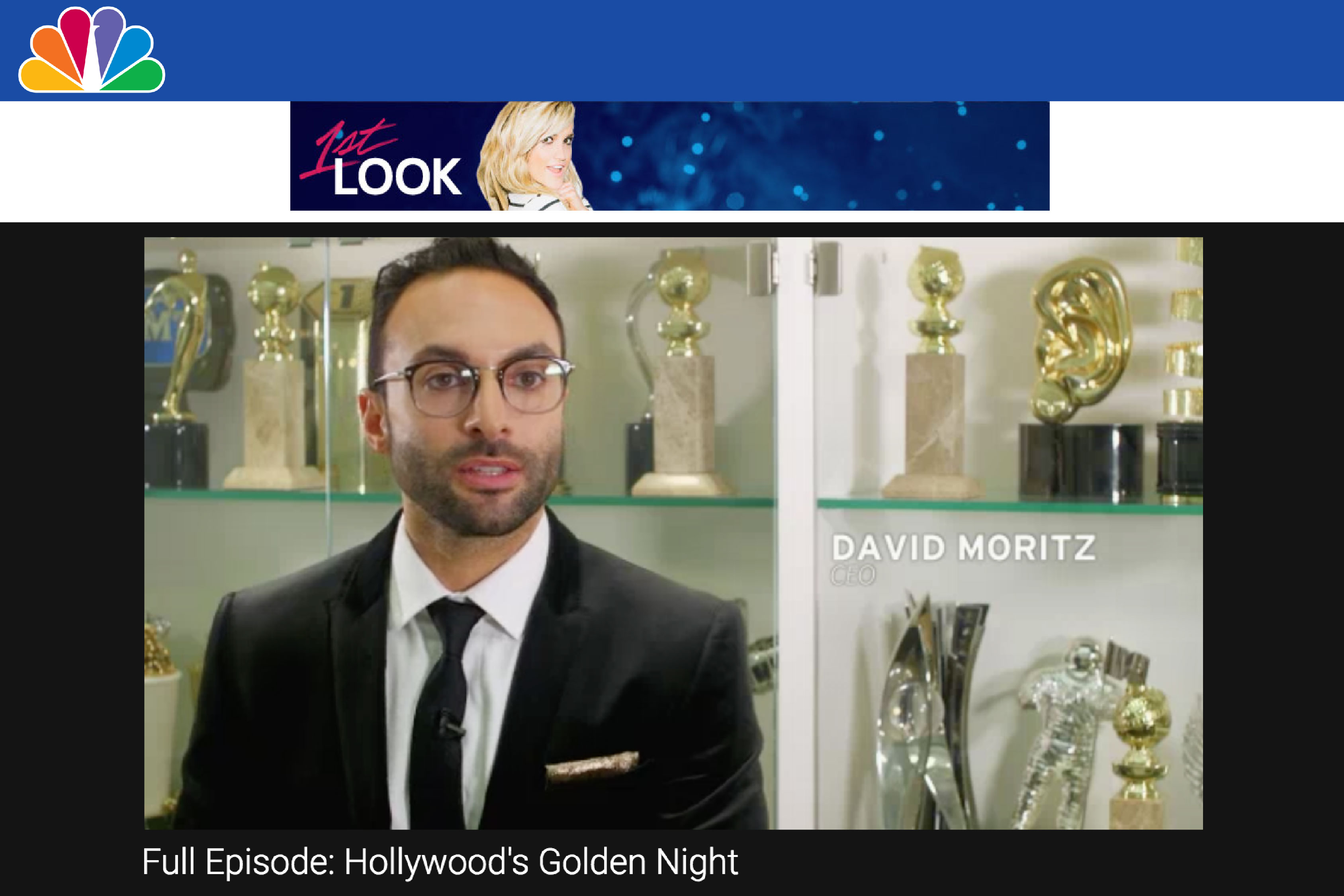 NBC's 1st Look Explores How Society Awards Creates the Golden Globe Statuette