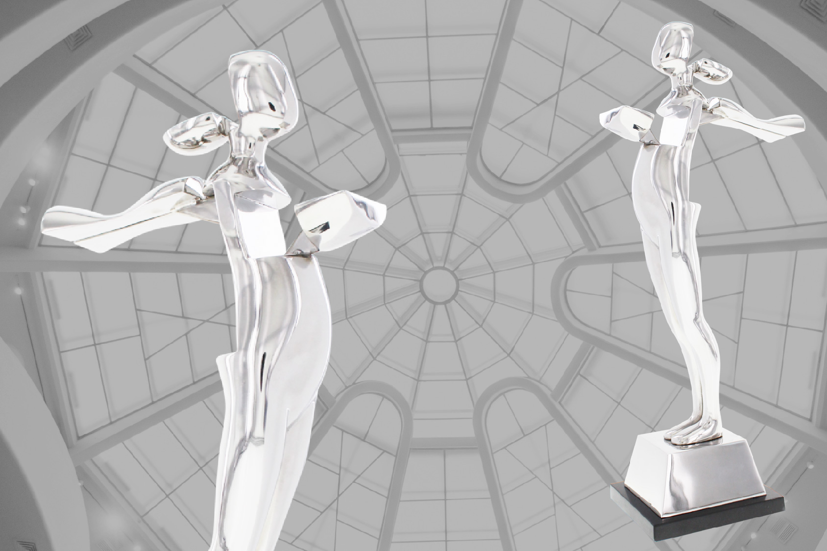 The CFDA Fashion Awards trophy, a licensed reproduction of an Ernest Trova sculpture