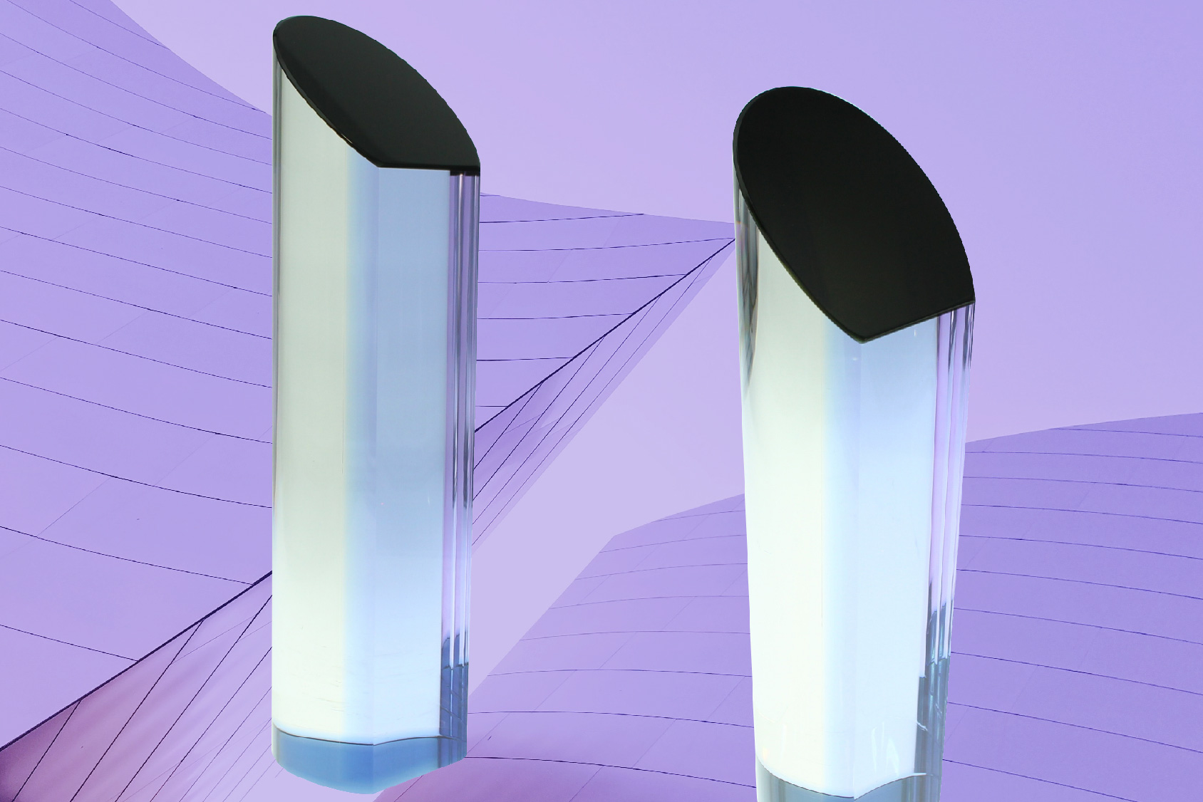 Century Crystal Cylinder trophy by Society Awards