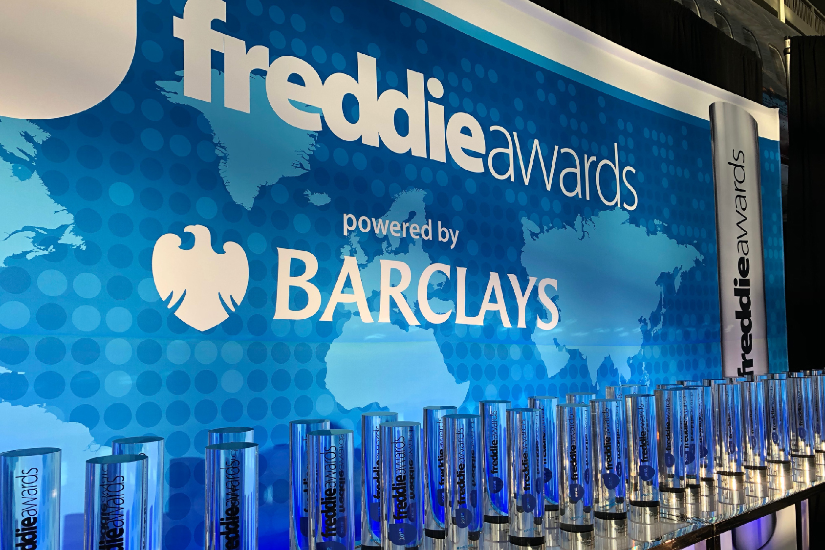 Custom trophies at the annual Freddie Awards