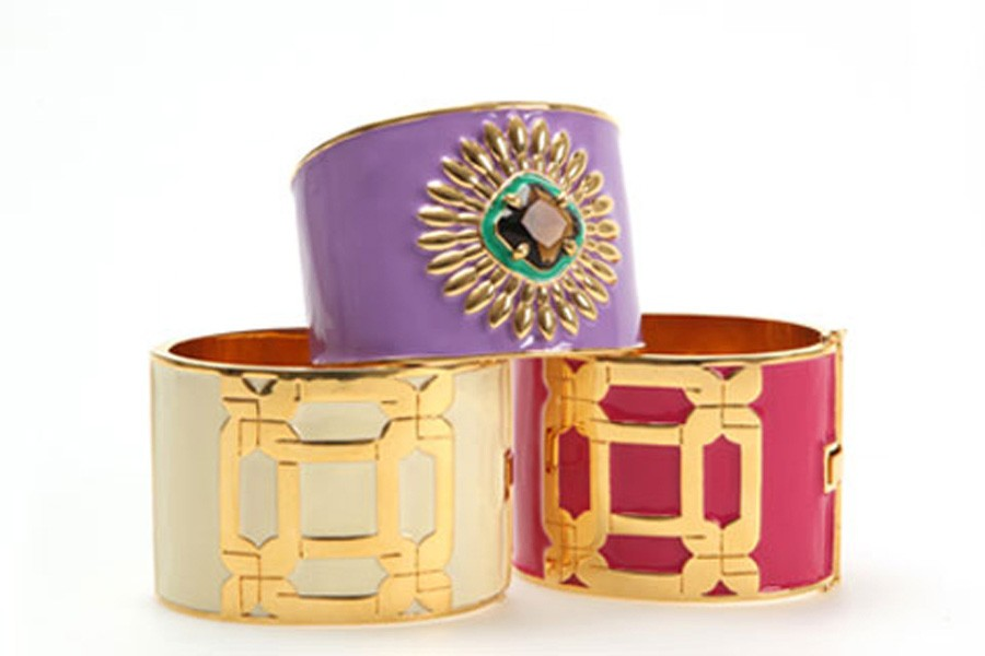 Luxury fashion jewelry for Milly with crystals enamel and gold plated details