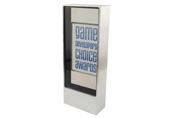 Game Developers Choice Awards lucite embedment and metal