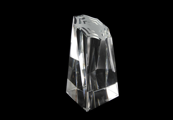made for Visible Applause custom logo corporate crystal award