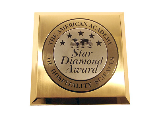 The American Academy of Hospitality Sciences Star Diamond Award plaque