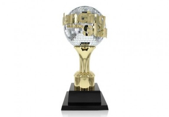 An iconic custom award crafted for the world's favorite dancing competition. The trophy combines a mirrorball with custom branding and a stepped base.