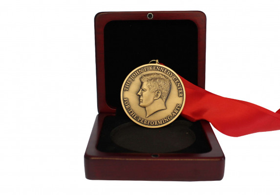 Custom Medal with Portrait Relief, presented in wood box; Recognizes exceptional talent and achievement in the arts