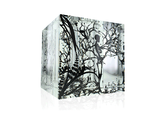 Nature Box is a custom crystal objet d'art and functional vase designed by Gabrielle Rein of Viceroy Creative
