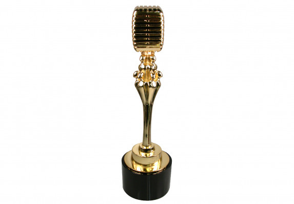 custom award for television show The Sing Off microphone with people acapella