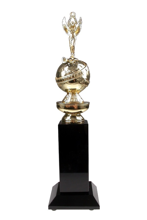 special Golden Globe award with angel and black crystal base