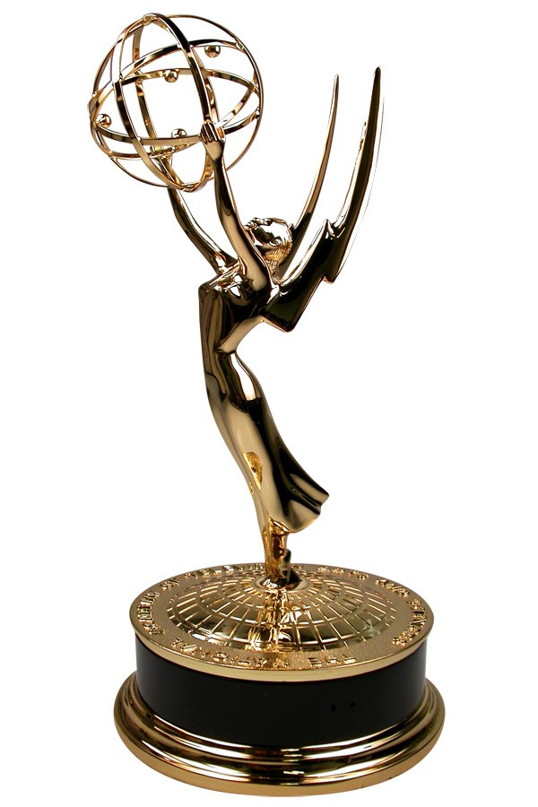 Beautiful trophy sculpture casting the Prestigious National Academy of Television Arts and Sciences NATAS Emmy Award Statuette updated and manufactured by Society Awards
