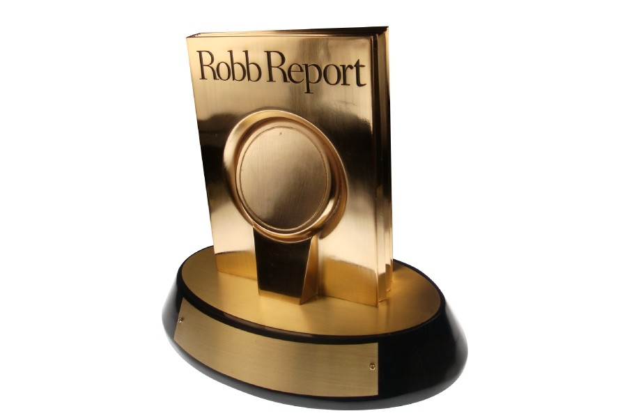best of the best custom magazine Robb Report trophy