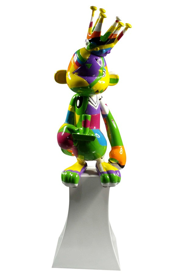 complex graphic colors wrapping custom sculpture award