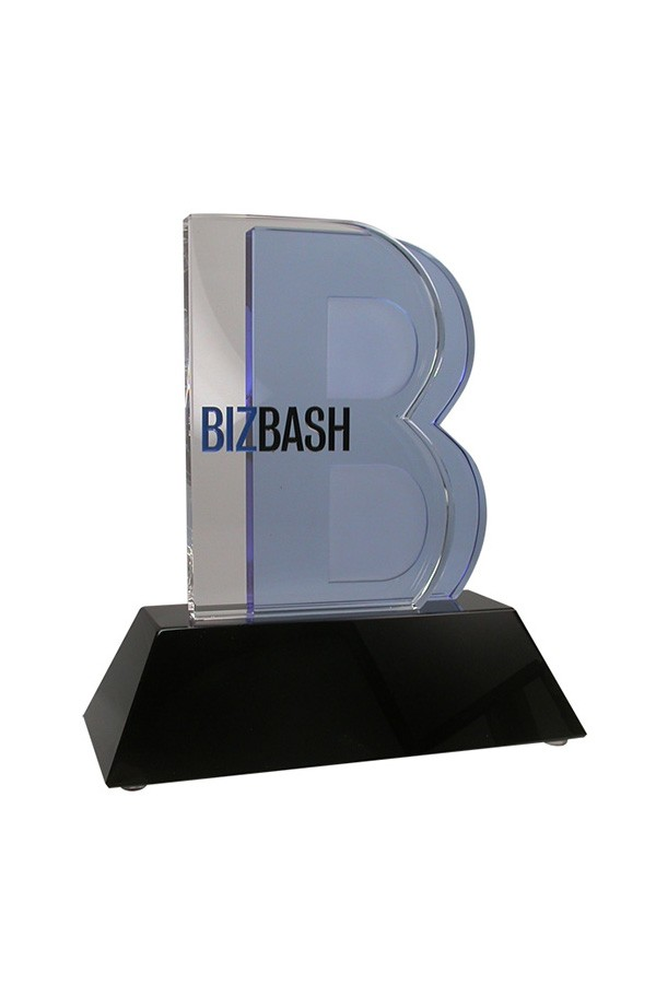 crystal business award corporate branded logo trophy events award