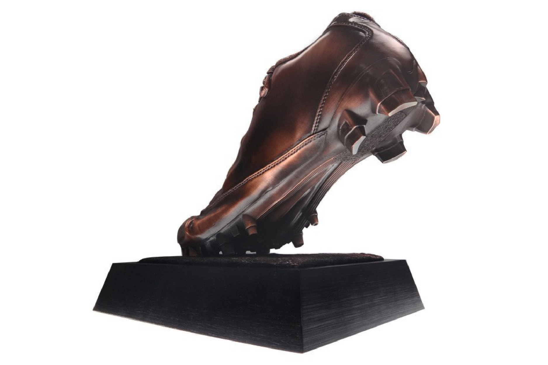 A realistic football cleat running shoe award crafted by Society Awards
