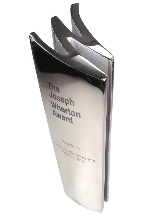 Stainless steel cast 'W' shaped custom education award
