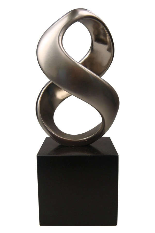 Custom stylized figure 8 infinity award sculpture
