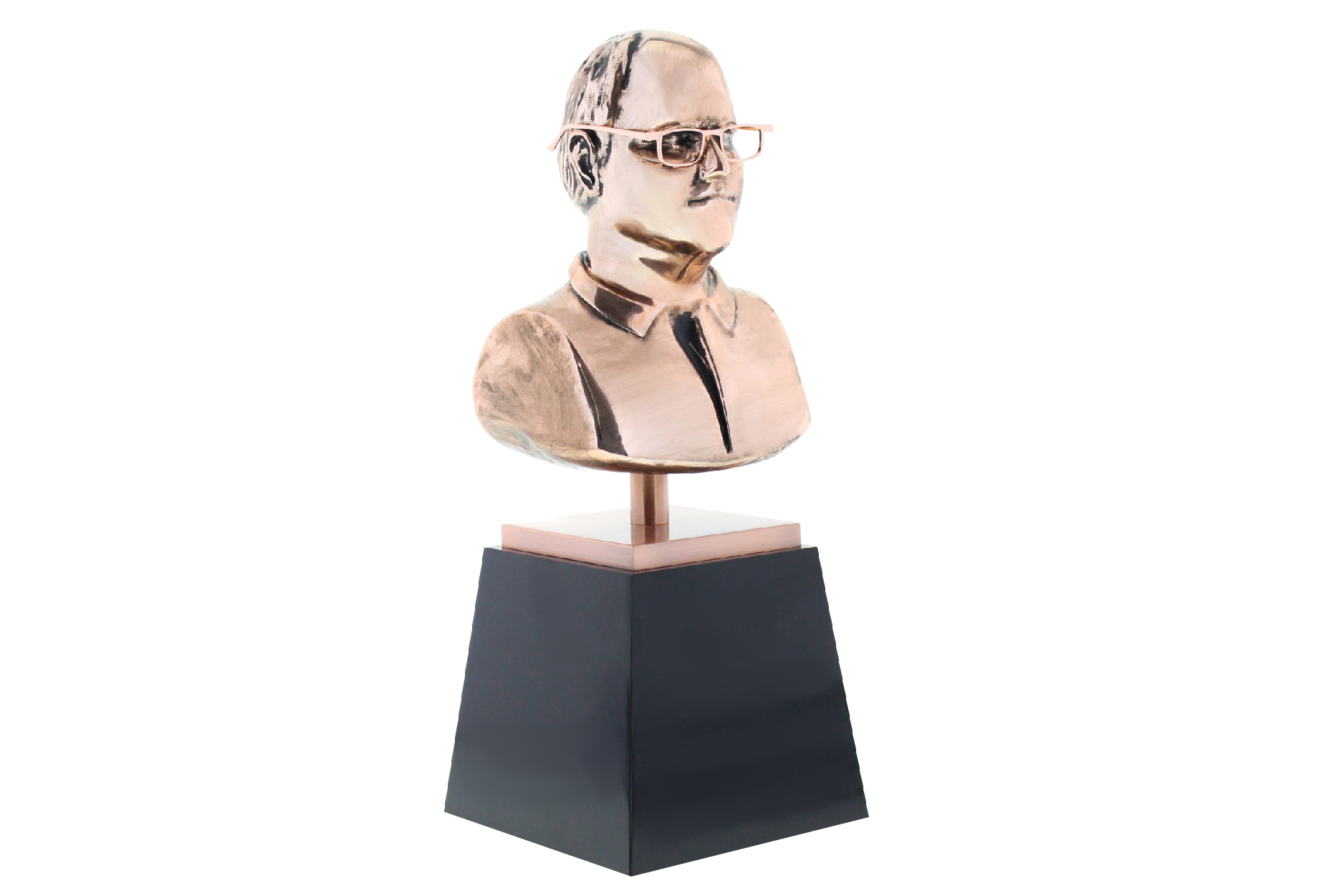 Metal Bust Trophy in Bronze