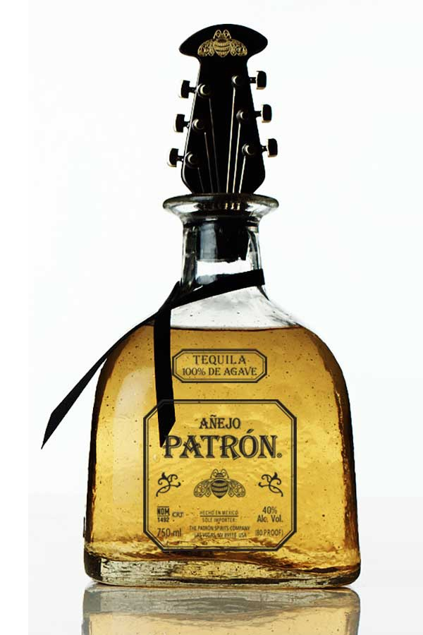 Iconic Rock 'n' Roll Bottle Stopper designed to look like a Guitar Head. The limited edition piece was crafted for an exclusive Patrón Collaboration with designer John Varvatos.